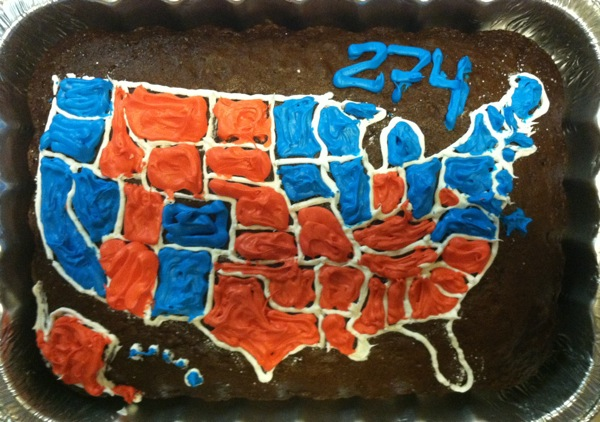 final election cake map