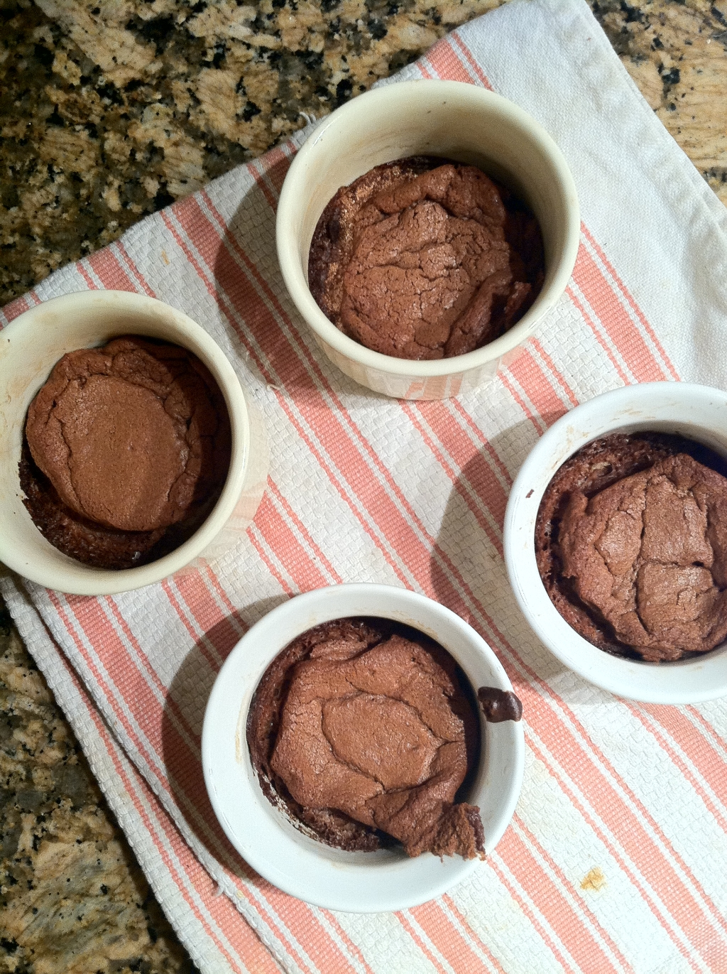 baking chocolate soufflé with friends
