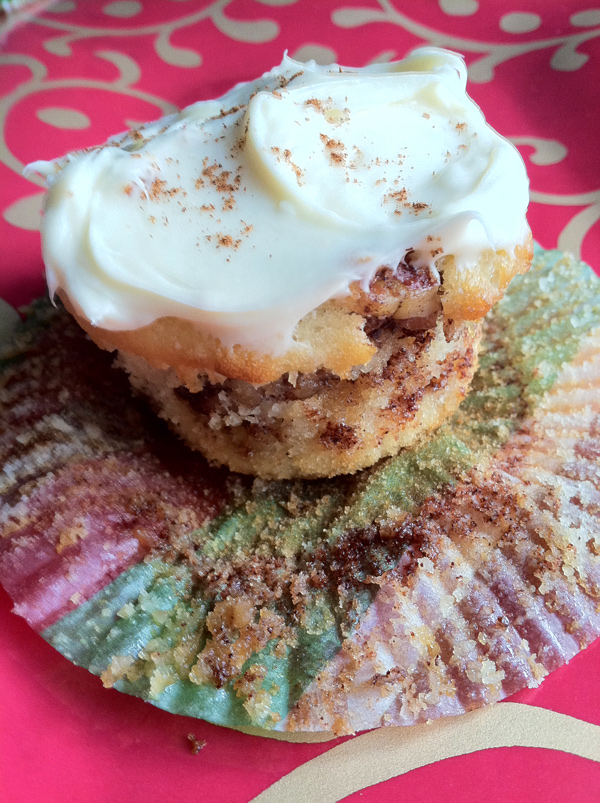 cinnamon roll cupcakes for breakfast