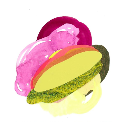 Cupcakes for Breakfast: Xochil Solis paintings