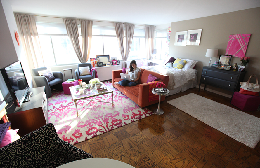 The Everygirl studio apartment tour