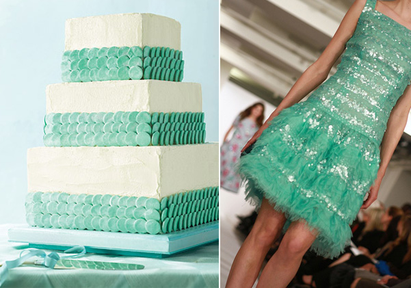 Side by Side – mint sparkle stripes