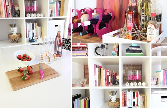Cupcakes for Breakfast: DC studio apartment tour – Ikea expedit shevles