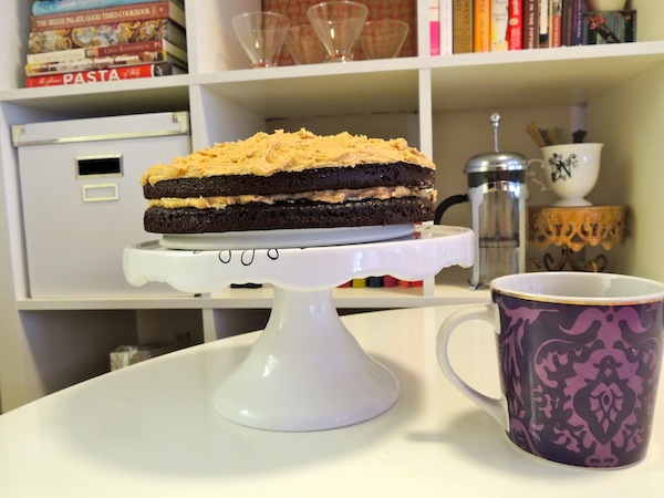 crunchy peanut butter frosting and coffee