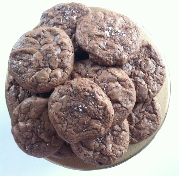 Cupcakes for Breakfast: salted double chocolate chip cookies