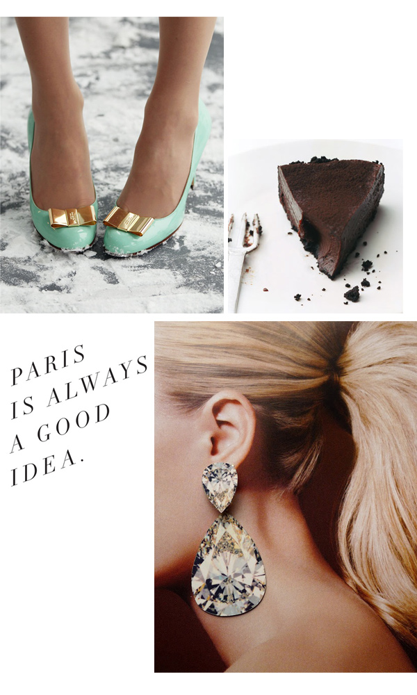 Friday glam with classy girls wear pearls, note to self, chocolate truffle tart, big earrings