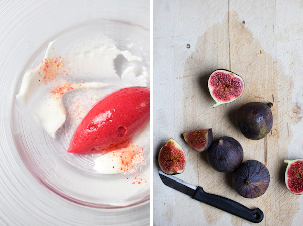 Cupcakes for Breakfast: araceli paz red food styling – sorbet dessert and figs