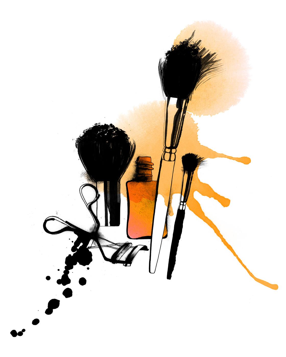 Makeup Drawing: Art Love: Christina Drejenstam
