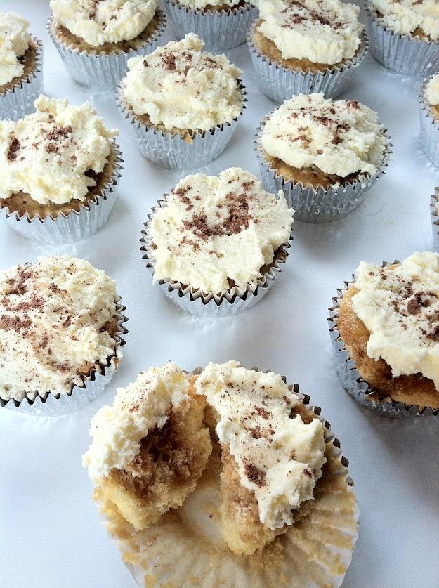 Cupcakes for Breakfast: silver lined tiramisu cupcakes