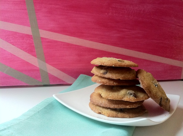 crisp salted chocolate chip cookies for the first day of spring