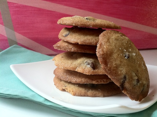 crisp salted chocolate chip cookies