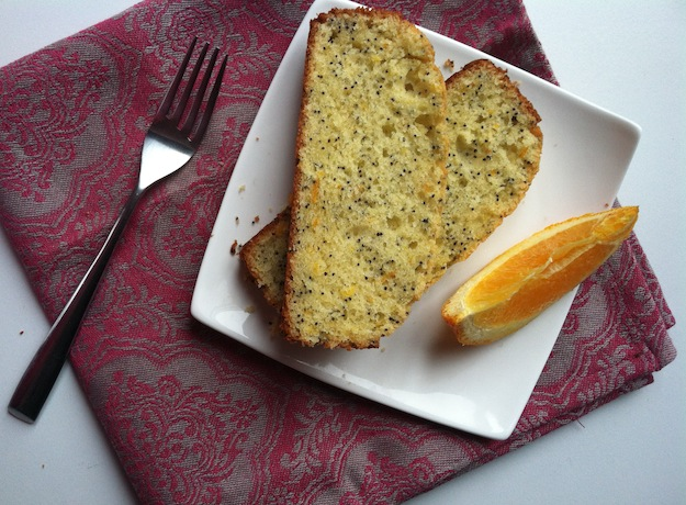 Orange Poppy Seed Mascarpone Pound Cake