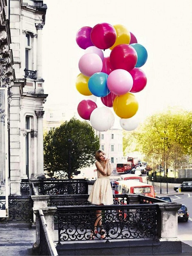 birthday balloons Clemence Poesy: Glamour UK, February '12