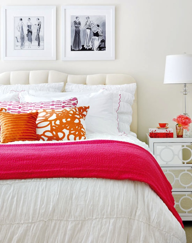 Bright pink bedroom Style at Home