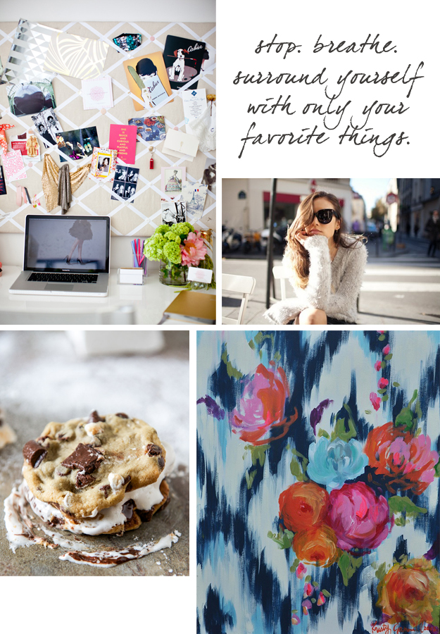 Cupcakes for Breakfast Weekend Collection: desk, chocolate chip cookie sandwich, flower print