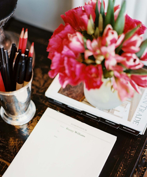 bright pink flowers for your desk Gadabout
