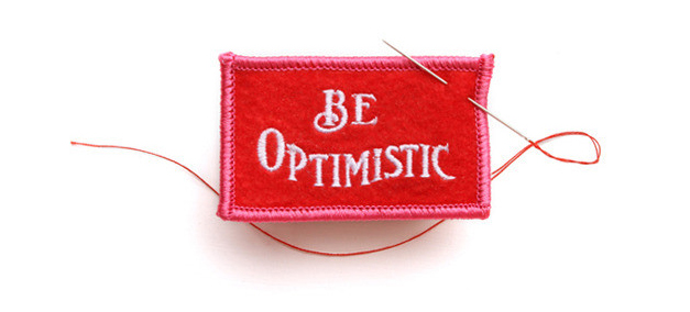 Cupcakes for Breakfast: Be Optimistic patch