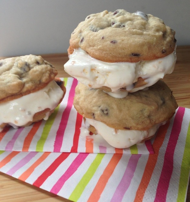 Cupcakes for Breakfast: chocolate chip coconut ice cream sandwiches
