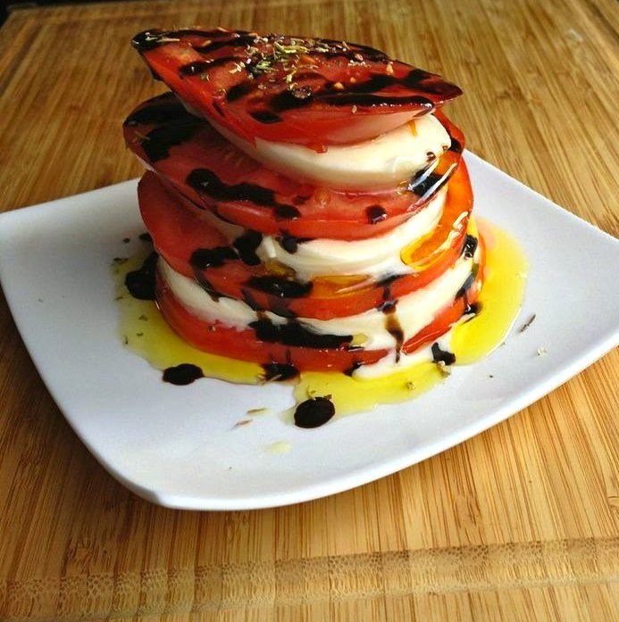 tomato mozzarella stack