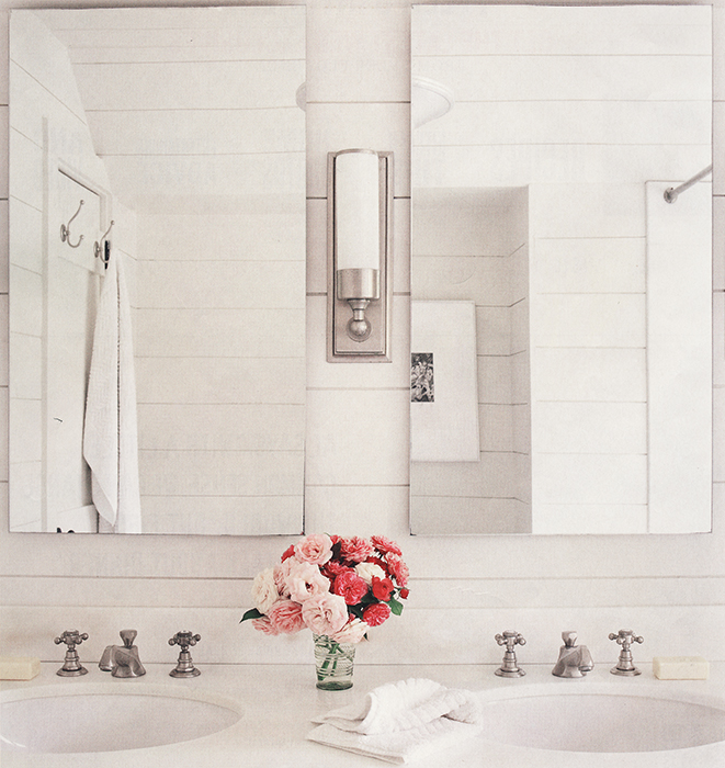 Cupcakes for Breakfast: Blush Pink bathroom flowers