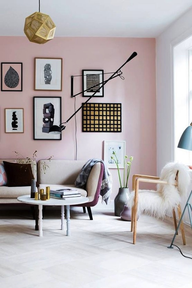 Cupcakes for Breakfast: Blush Pink wall