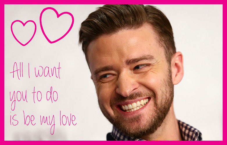 Cupcakes for Breakfast: Teenybopper Valentines - Justin Timberlake