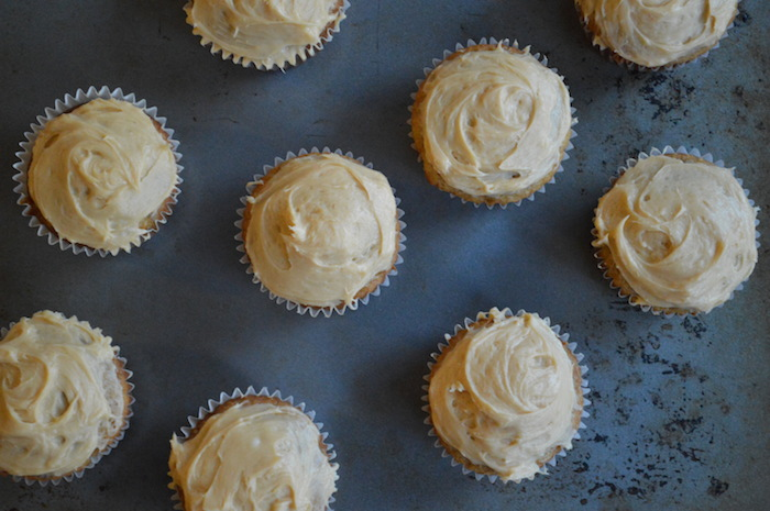 Cupcakes for Breakfast: Banana Cupcakes with Dulce de Leche Cream Cheese Frosting