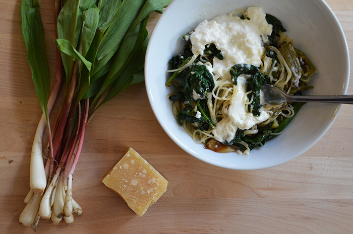 Cupcakes for Breakfast | Sunday Pasta: Ramps, Roasted Asparagus, Spinach, Burrata