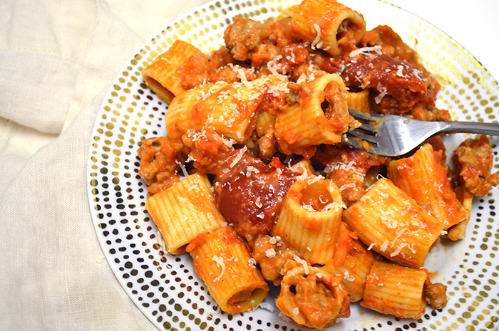 Sunday Pasta: Rigatoni with Sausage Ragu